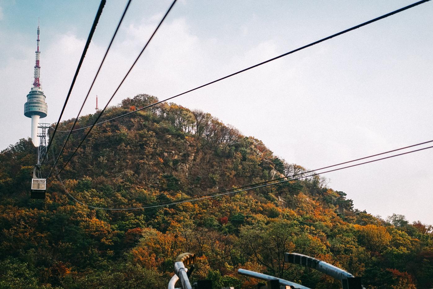 Namsan cable car - Eatandtreats Seoul Trip Diary Namsan Tower In Autumn 2015