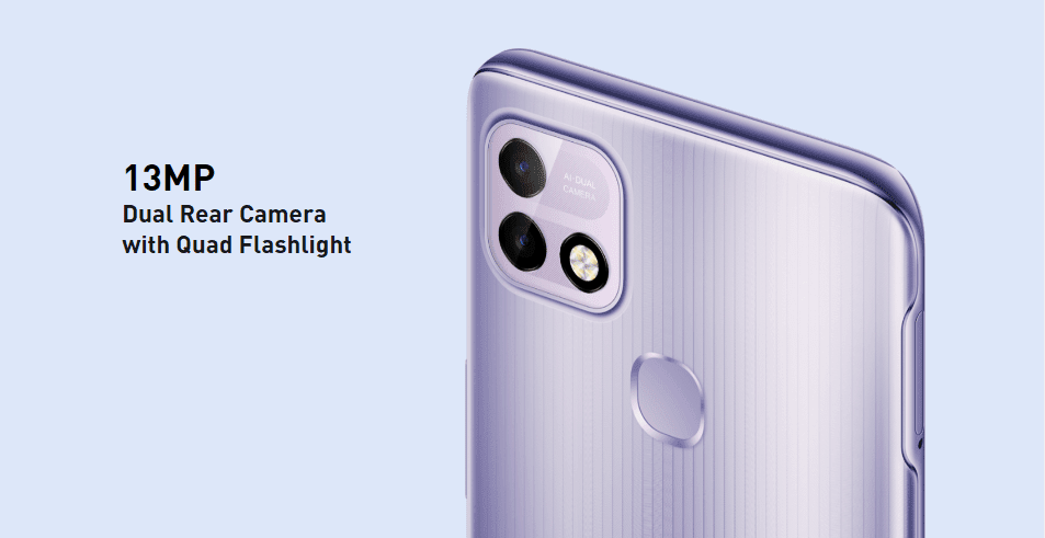 The 13MP dual-camera system is backed by AI