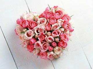 خلفيات قلوب على شكل زهور ورود قلوب