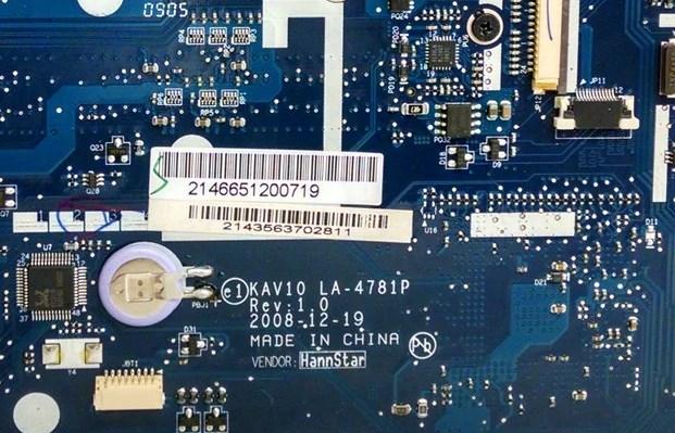 LA-4781P REV 1.0 KAV10 Acer Aspire One 150 Bios