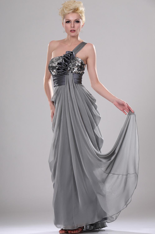 coiffurete dance robe de soir e grise longue. Black Bedroom Furniture Sets. Home Design Ideas