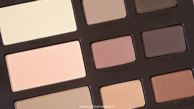 Too Faced - Natural Matte Collection: Swatches e review della nuova palette di ombretti opachi