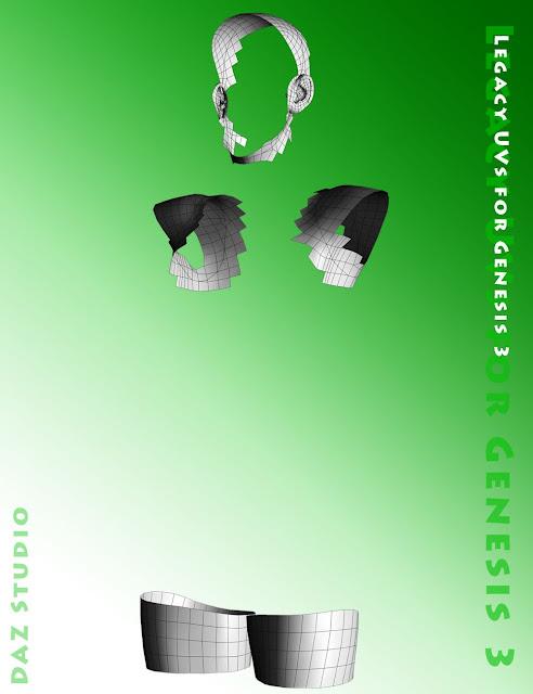 Legacy UVs for Genesis 3: Genesis Pack