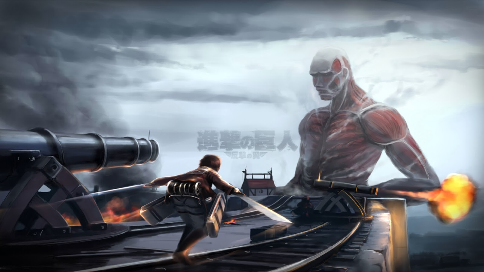 Colossal Titan Eren Yeager 2f Wallpaper HD
