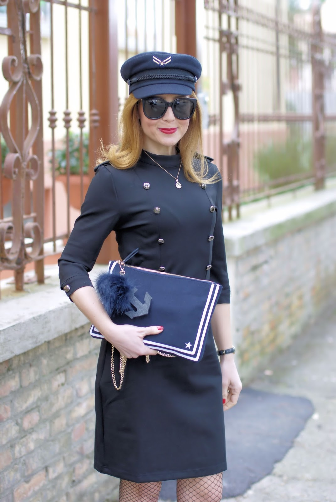 Military sexy style Dezzal dress and TommyXGigi collection on Fashion and Cookies fashion blog, fashion blogger style