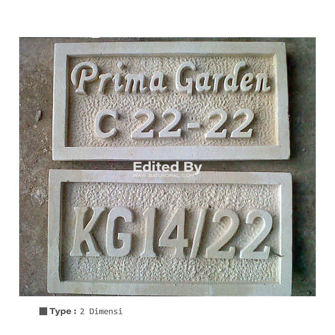 ukiran nomor rumah