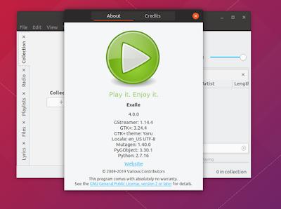 Install Exaile 4.0.0 Music Player on Ubuntu (18.10/18.04) & Linux Mint
