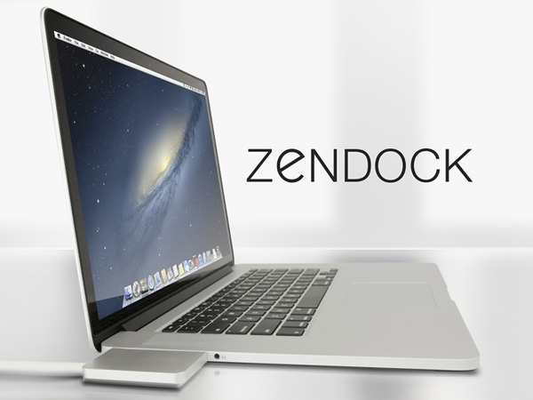 ZenDock Manage your Macbook Pro Cables With A Single Port