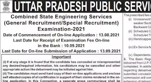 UPPSC Recruitment 2021: 281 Assistant Engineer Posts