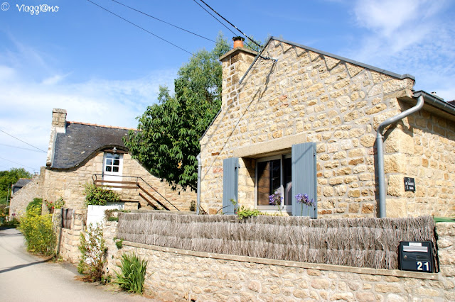 Case tradizionali bretoni a Carnac