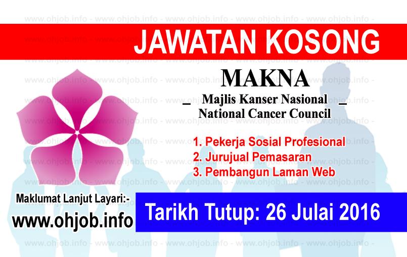 Jawatan Kerja Kosong Majlis Kanser Nasional (MAKNA) logo www.ohjob.info julai 2016