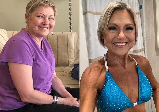 Старушка занялась собой на пенсии и в 64-летнем возрасте стала звездой конкурсов фитнес-бикини