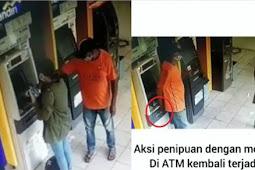 Viral Aksi Penipuan ATM Terekam CCTV, Rp 1 Juta Raib Dihadapan Korban