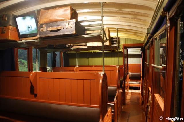 Mulhouse Museo Ferroviario - Interno carrozza passeggeri