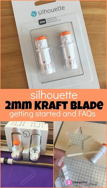 silhouette 101, silhouette america blog, cameo 3, cameo 4, kraft blade
