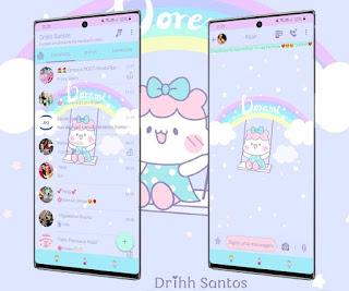 Hello Kitty & Rainbow Theme For YOWhatsApp & Fouad WhatsApp By Driih Santos