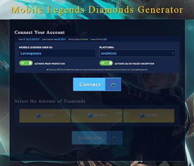 mobile legend hack Diamond dengan Generator ml.mobiles generator.com