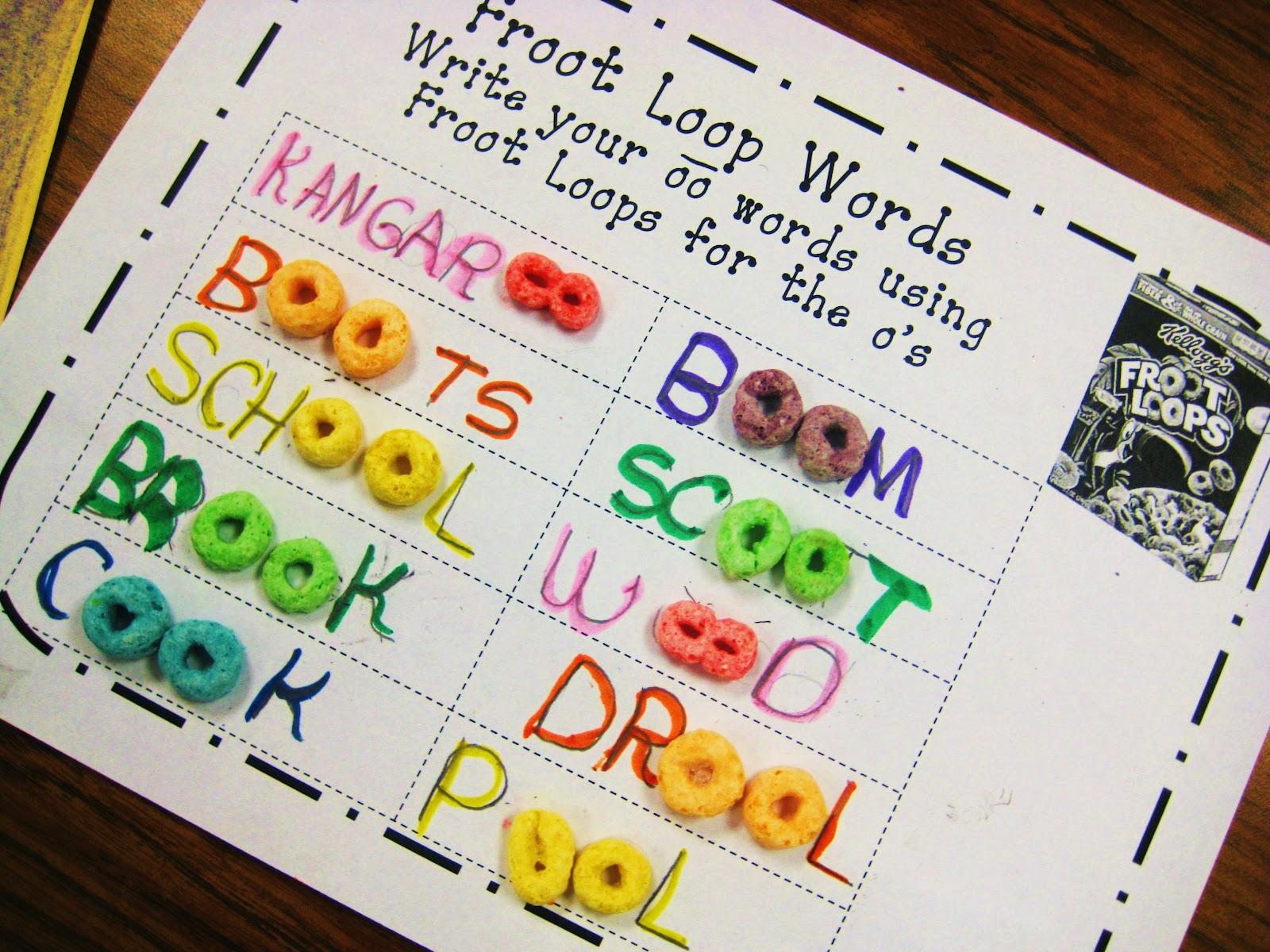 First Grade Wow Froot Loops Oo Word Work