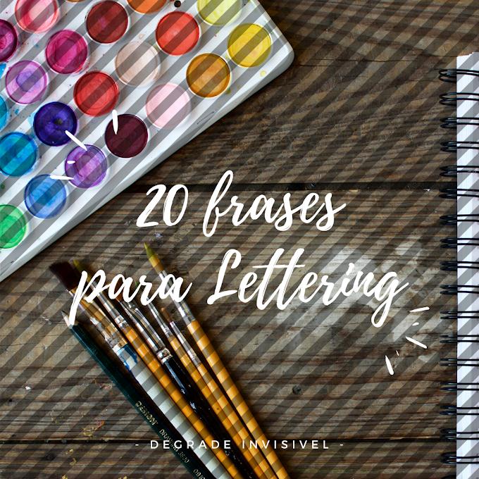 20 Frases para Lettering