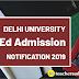DU B.Ed. CEE 2019-2021| Last date Extended |Apply Now