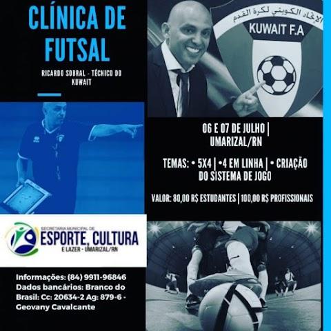 Secretaria Municipal de Esporte, Cultura e Lazer trará técnico internacional para promover curso de futsal em Umarizal