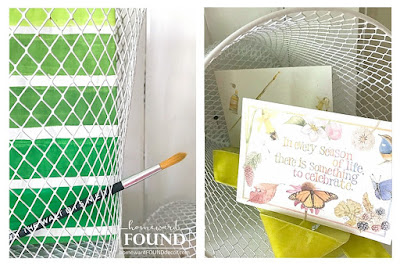 dollar tree, wire wastebaskets, diy, upcycle, repurposed, office decor, organization, colorful