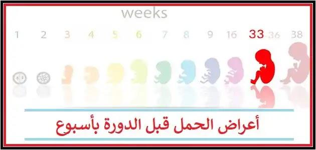 اعراض الحمل قبل الدورة باسبوع عن تجربة الوصفة