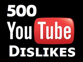 Buy 500 YouTube Dislikes