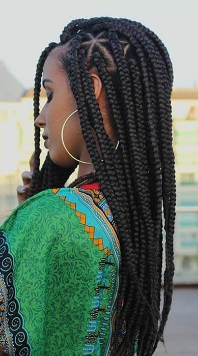 26 Braided Hairstyles For Teens: 26+ Cute Triangle Braids Hairstyles For Black Women To