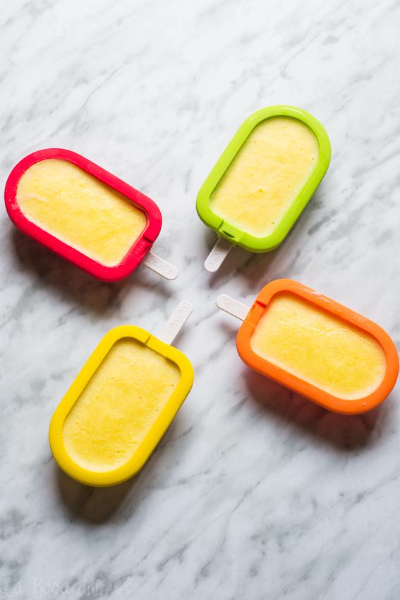Polos o paletas de mango y yogur #sinlactosa #singluten