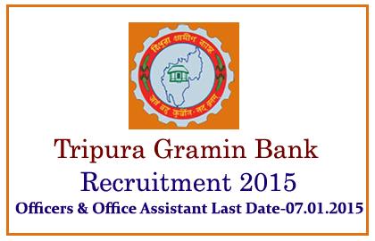 Tripura Gramin Bank Recruitment 2015