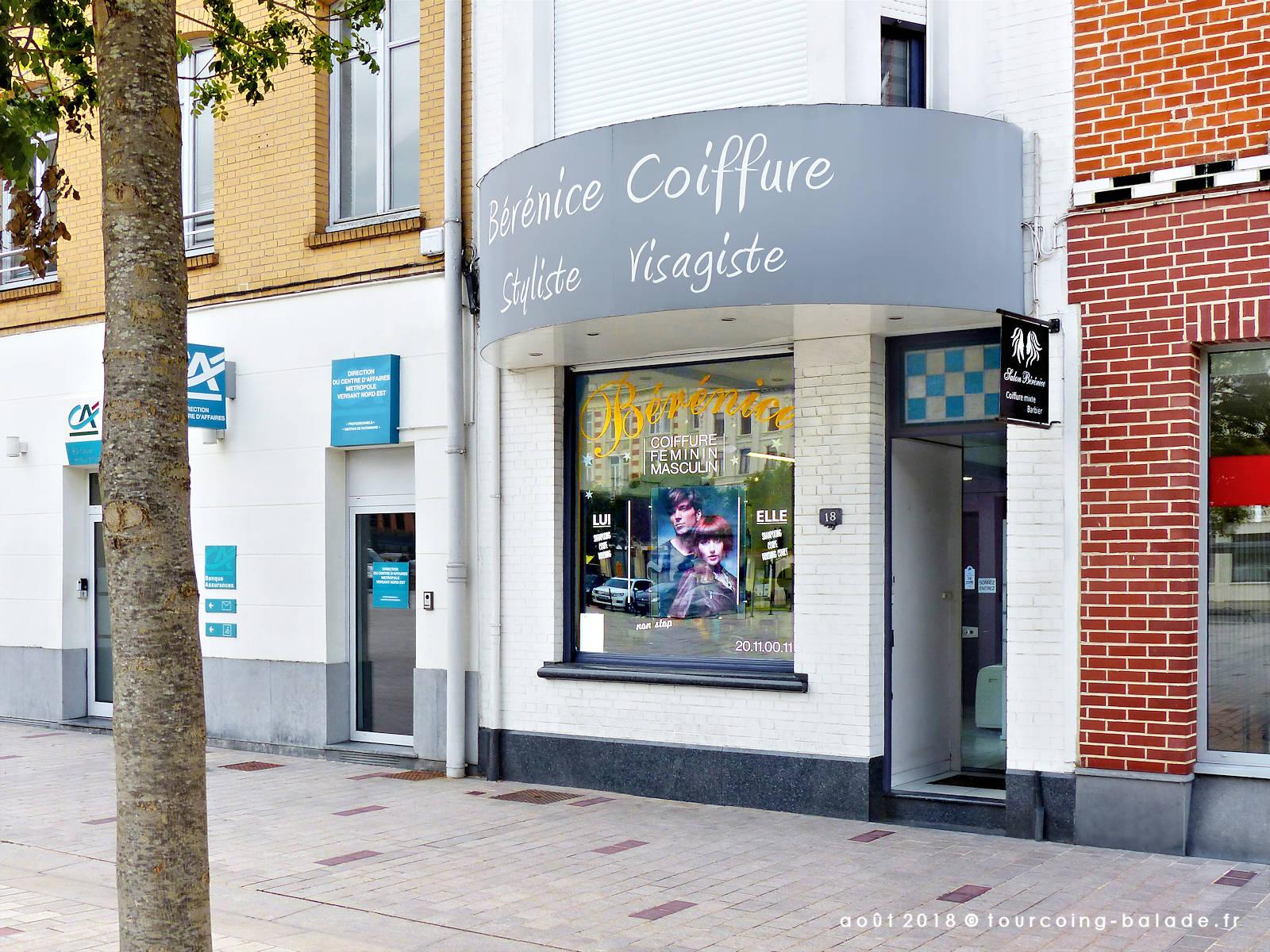 Salon de coiffure Bérénice, Tourcoing 2018.