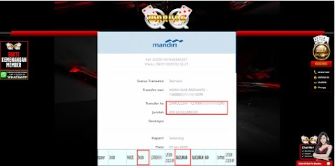 Selamat Kepada Member Setia WARUNGQQ Withdraw RP 30.023.000