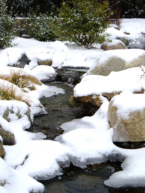 maintain pond-free pondless waterfall winter