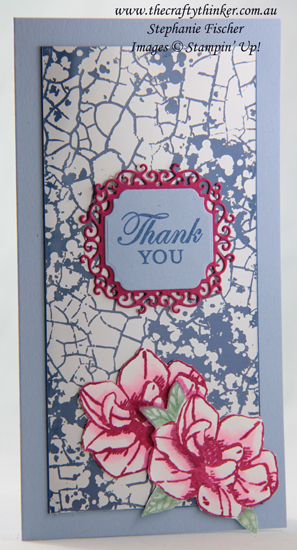 #thecraftythinker #mercuryglassacetate #stampinup  #cardmaking #magnoliablooms , Mercury Glass Acetate, Magnolia Blooms, Ornate Frames, Stampin' Up Demonstrator, Stephanie Fischer, Sydney NSW
