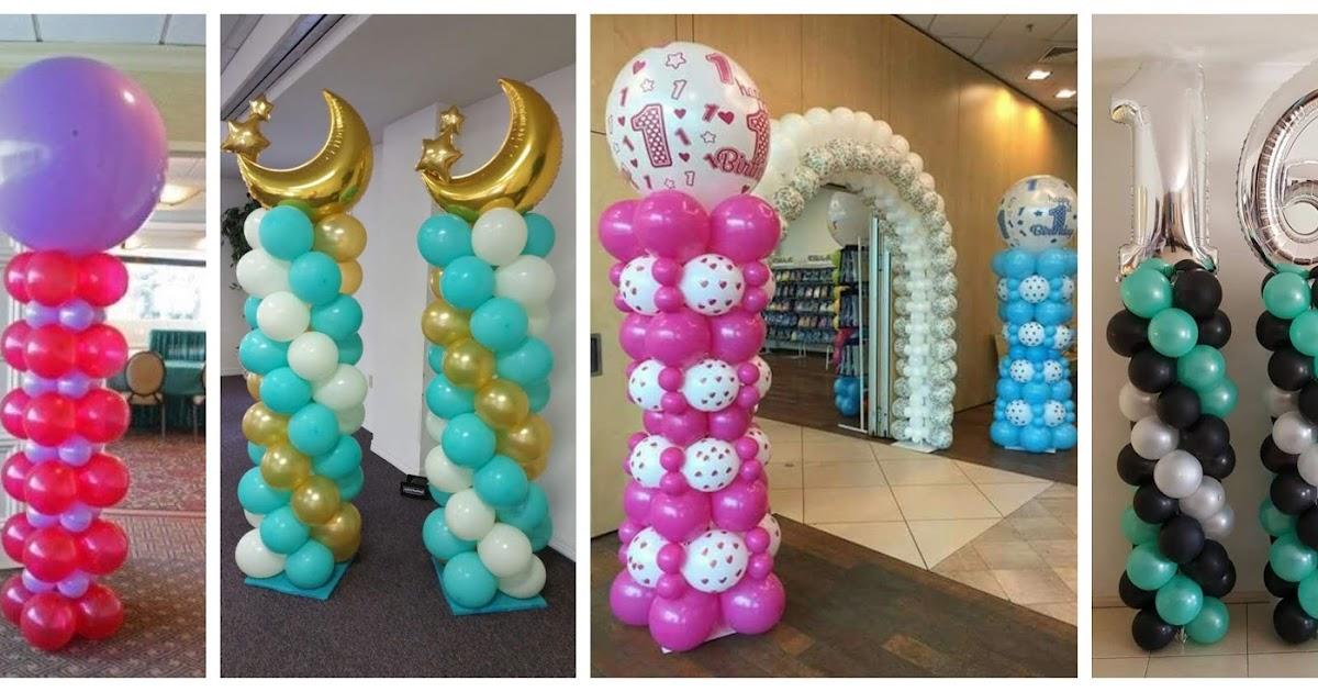 Aprende c mo hacer una columna de globos para decorar - Como decorar una columna ...