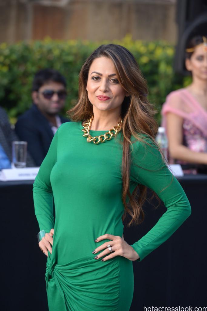 Amrita Arora hot sexy still in green dress