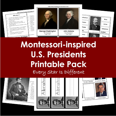 U.S. Presidents Printable Pack