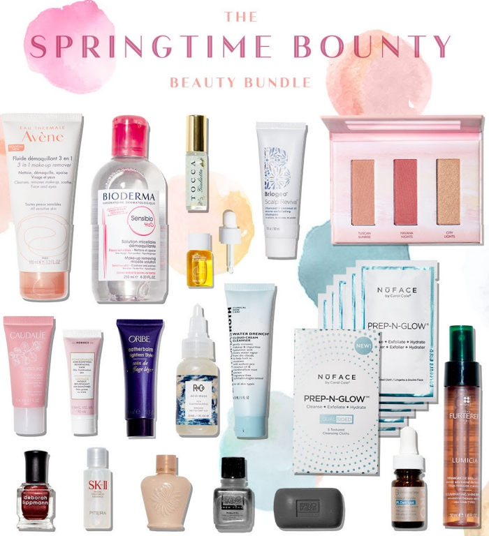 Here are the contents of the B-Glowing Springtime Bounty Beauty Bundle 2019, a free gift with purchase that ships worldwide.