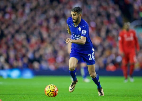 Riyad Mahrez is a transfer target for Liverpool