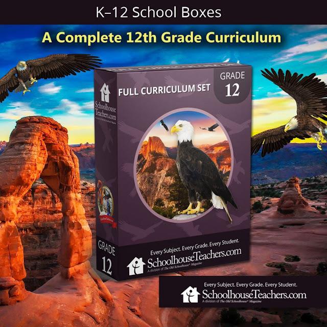 SchoolhouseTeachers.com 12th Grade curriculum school box graphic
