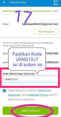 Cara Memasukkan Kode Referral Tunaiku Amar Bank