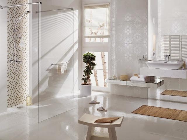 Azulejos blancos para ba os 9 ejemplos imprescindibles - Losas de bano ...