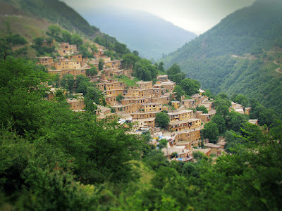 Masuleh village in the middle of forests in the north of Iran.
