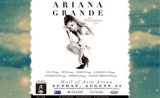 You'll get Shock for the Prices of Ticket for Ariana Grande Concert in the Philippines
