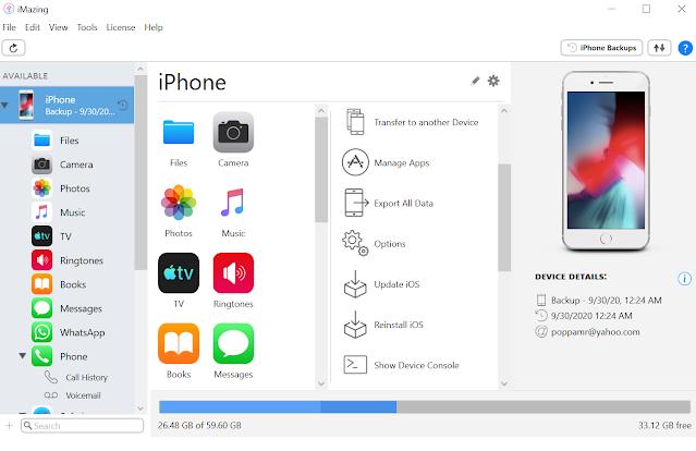 برنامج DigiDNA iMazing 2.12.3 للتحكم وادارة الايفون ونظام IOS بشكل كامل