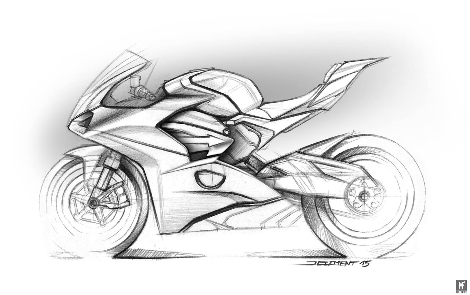 Racing Cafe Design Corner Ducati Panigale V4 Sketches By Julien