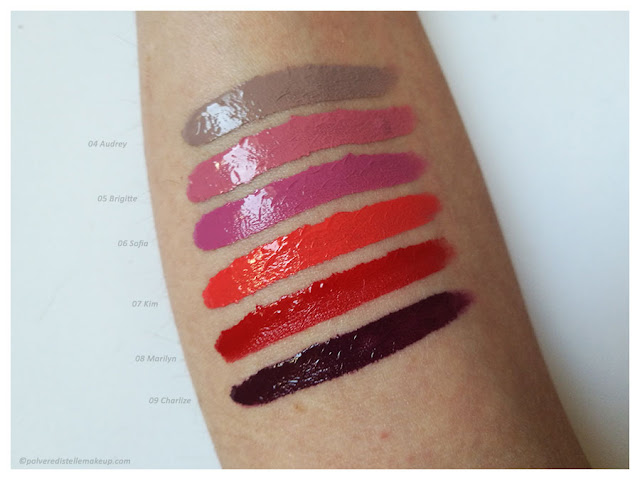 Paint4lips PaolaP MakeUp rossetti liquidi swatches