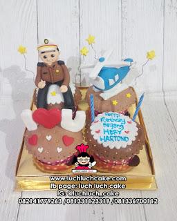 Cupcake Ulang Tahun Untuk Polisi