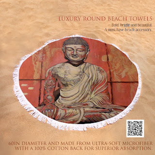 Luxury round beach towels by Tom Roderick Art